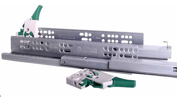 Guia Corredera Oculta Regulacion 3d Cierre Suave 350mm