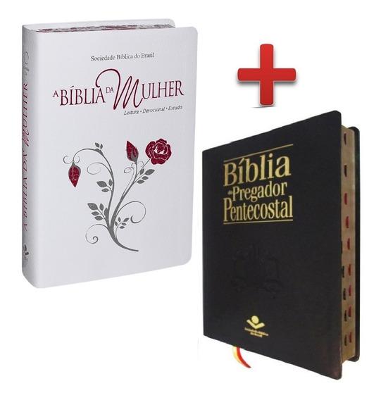 Bíblia De Estudo Da Mulher + Bíblia Do Pregador Pentecostal
