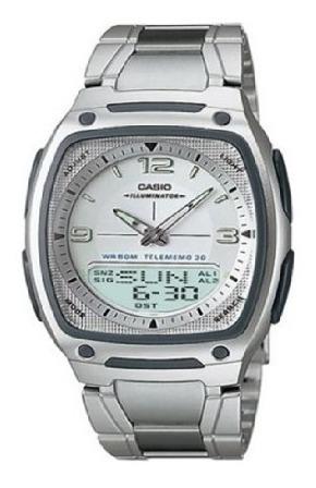 Reloj Casio Caballero Dual De Acero Inoxidable Con Estuche