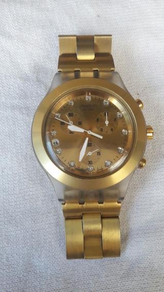 Relógio Original Swatch Full Blooded Dourado Masculino
