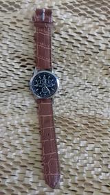Relógio Unissex Geneva Pulseira Marrom - Cod. 00347