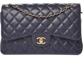 Bolsa Chanel Jumbo Caviar Couro