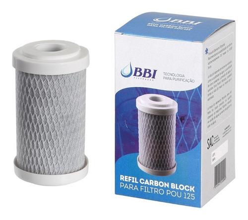 Refil Filtro 5 Bbi Pou F125 - Rep-pou125 Carbon Block