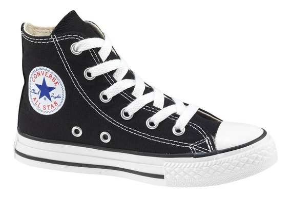 Zapatillas Converse All Star Chuck Taylor Hi Kids Niño Negra