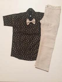 Conjunto Calça E Camisa Social Infantil Masculino Tam 6