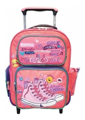 Mochila Con Carro Gremond Zapatillas Escolar Kids 26 L