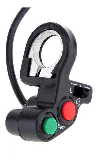 Punho Interruptor Farol Buzina Seta Moto Trilha Universal