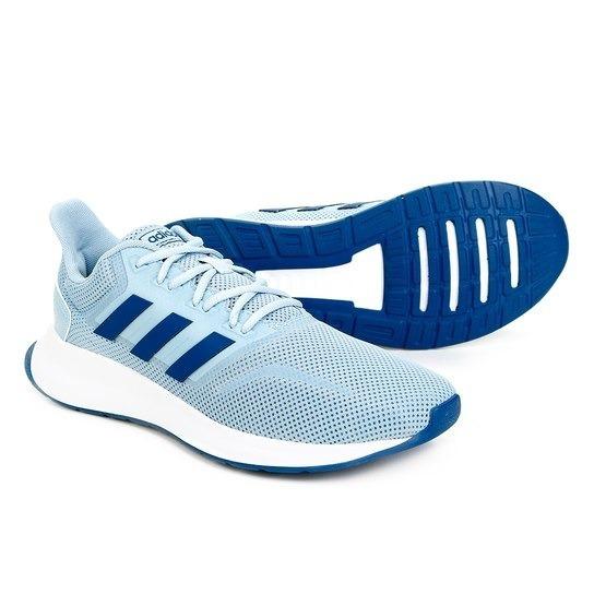 Tênis adidas Branco Azul Falcon + Frete Grátis
