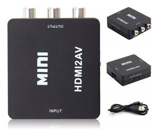 Convertidor Hdmi A Rca - Av Audio Video Adaptador Para Tv