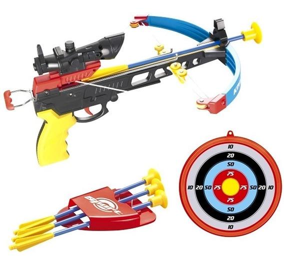 Arco Flecha Arqueiro Infantil Crossbow Besta Alvo Mira Laser
