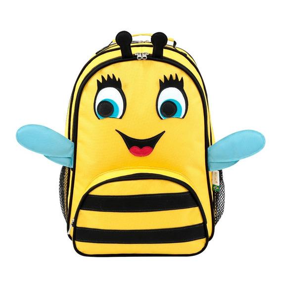 Mochila Escolar Infantil Abelha Amarela Forrada Mumagi