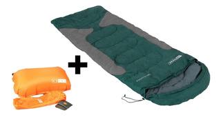 Kit Camping Nautika Travesseiro + Saco De Dormir Freedom
