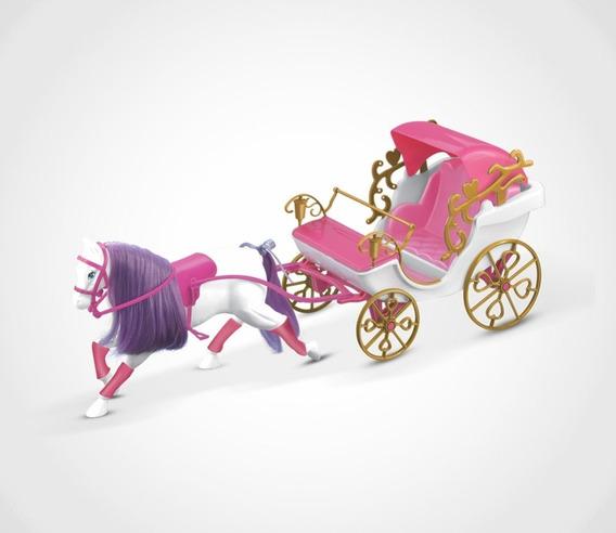 Barbie Princesa Carruagem Real Com Cavalo P/ Baby Boneca