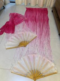 Leque Fan Veil - Seda Pura E Pintado A Mão - Silk By Therê