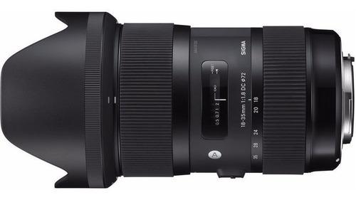 Imagem 1 de 5 de Objetiva Sigma 18-35mm F/1.8 Dc Hsm Art Para Canon