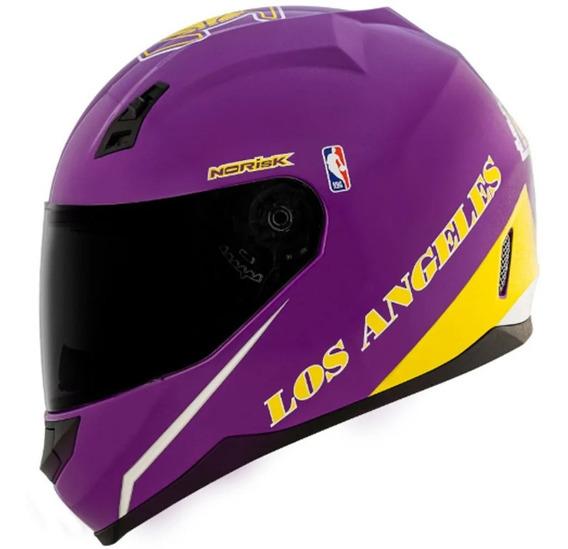 Capacete Norisk Ff391 Nba Los Angeles Lakers Purple