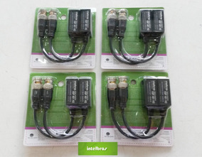 Kit 4 Vídeo Conversor Balun Xbp 401 Intelbras Passivo Full