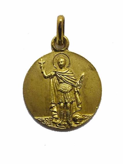 Medalla Oro 14k San Expedito #1148 Bautizó Comunión
