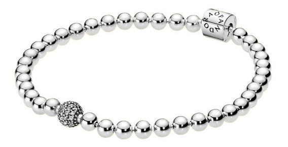 Bracelete Esfera Brilhante Pandora Original