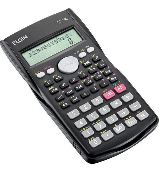 Calculadora Cientifica Elgin Cc240 Funcoes/ Display 2 Linhas