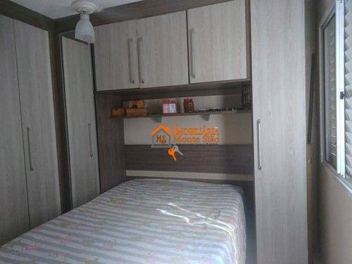 Imagem 1 de 6 de Apartamento Com 3 Dormitórios À Venda, 62 M² Por R$ 297.000,00 - Jardim Bela Vista - Guarulhos/sp - Ap3448