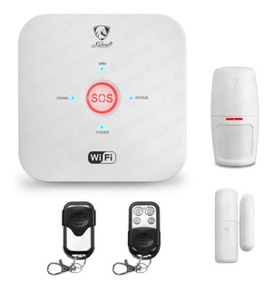 Kit Alarma Wifi Gsm Seguridad Casa Vecinal Sistema Sensores Defensa Alerta Control App Google Alexa Celular Negocio