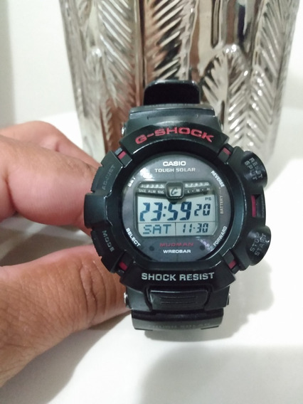Relógio Casio G-shock G-9010-1av *mudman Rally*tough Solar*
