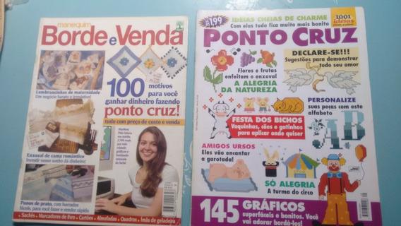 Revista Ponto Cruz. Tricô. Crochê. Bordado. Veg (lote De 9)