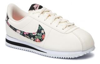 Nike wmns classic cortez prem Rosado Plateado Walking