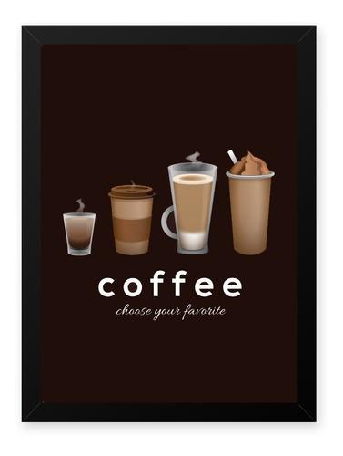 Quadro Graos Cafe Choose 23x33 Cm