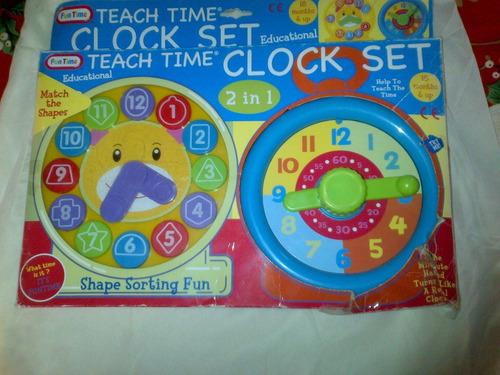 Juego Didactico 2 Reloj Educativo Para Aprender La Hora