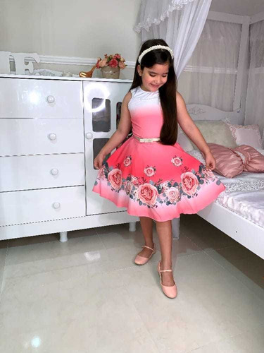 Vestido De Festa Infantil De Extrema Qualidade E Conforto.