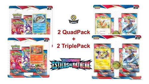 Blister Quádruplo + Triple Pack Ee5 - Pokémon - Copag