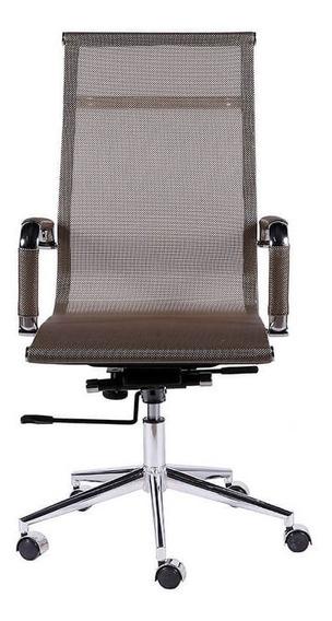 Cadeira De Escritório Alta Com Tela - Cobre - Tommy Design