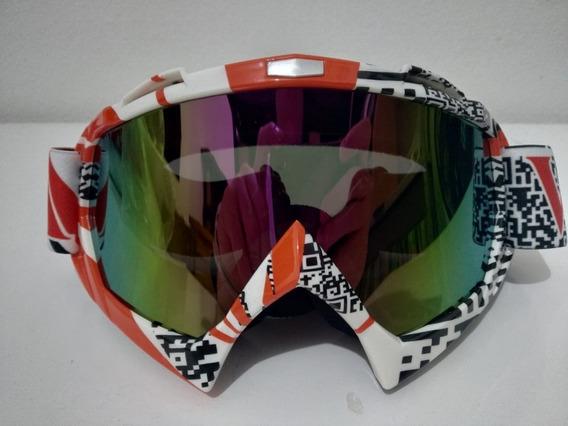 Óculos Camaleão Trilha E Motocross (espelhado)