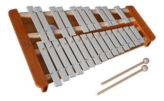 Metalofón Glockenspiel Cromático De 25 Notas Sol Venturi