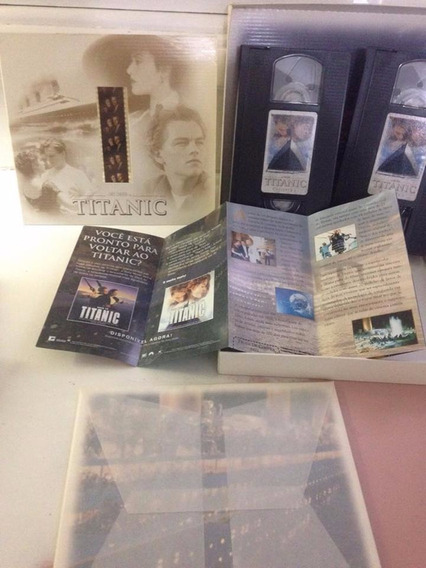 Titanic Edição Limitada Box 2 Vhs + Fotos + Pelicula 35mm
