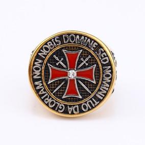 Anel Maçom Mestre Ordem Dos Cavaleiros Templários