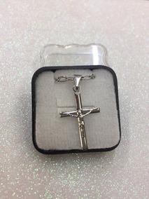 Crucifixo Com Corrente Aço Inox