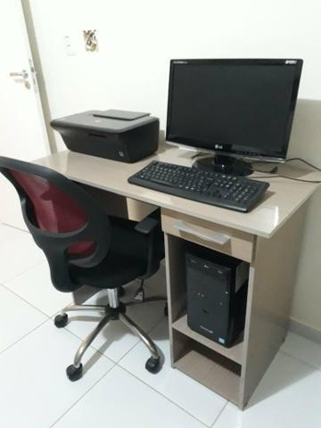 Computador Completo Com Impressora, Móvel E Cadeira Inclusos