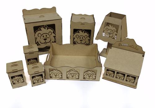 Imagem 1 de 1 de Kit Bebe Higiene Leãozinho 8 Peças - Desmontado Sem Juros