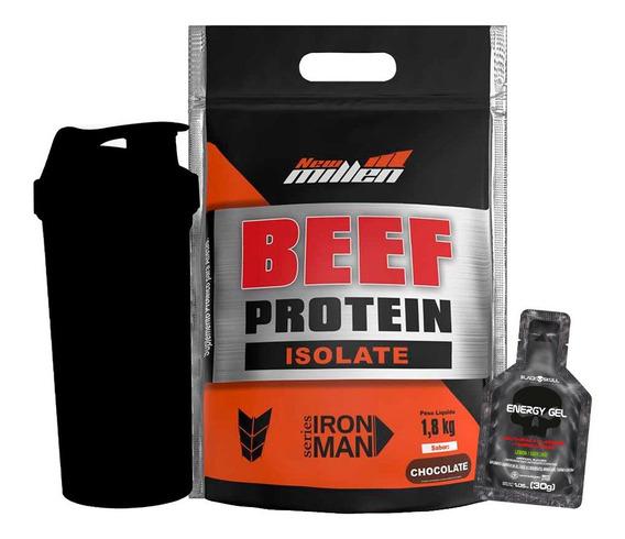 Beef Protein Isolate - 1800g + Brindes - New Millen