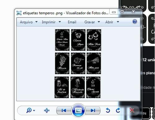 Imagem 1 de 3 de Arquivos Etiquetas Para Impressão Para Vidro De Temperos