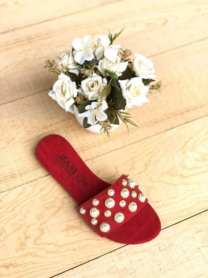 Sandalia Casual Para Dama Con Perlas