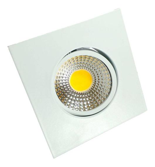 10 Spot Led 5w Lâmpada Dicroica Direcionável E Reator Bivolt