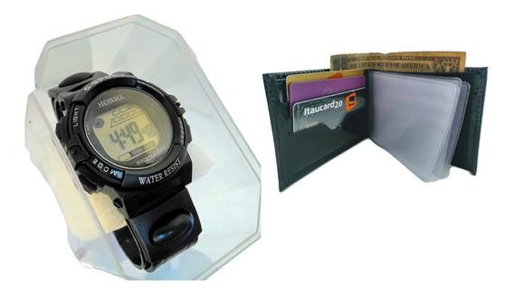 Relógio Digital Prova Dágua 30 Mt Militar Cronômetro+ Brinde