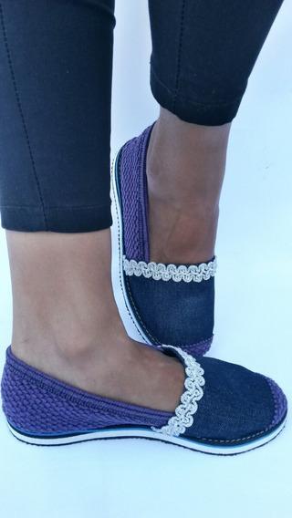 Zapatos Cocuiza Calzado Alpargata Decorada Jeans Damas