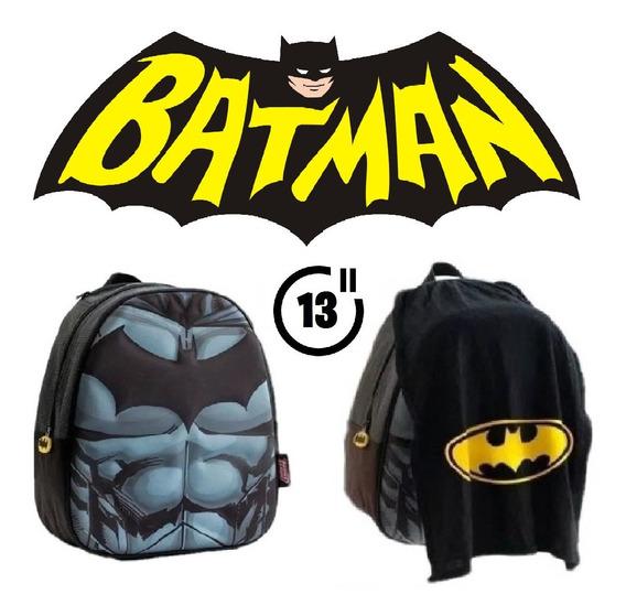 Mochila De Espalda Batman Con Capa 13 Pulgadas Original