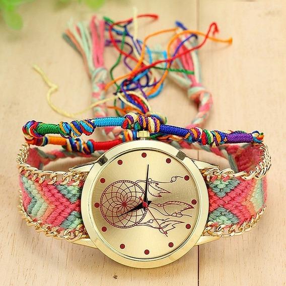 Relógio Hippie Apanhador De Sonhos Quartzo A Pronta Entrega