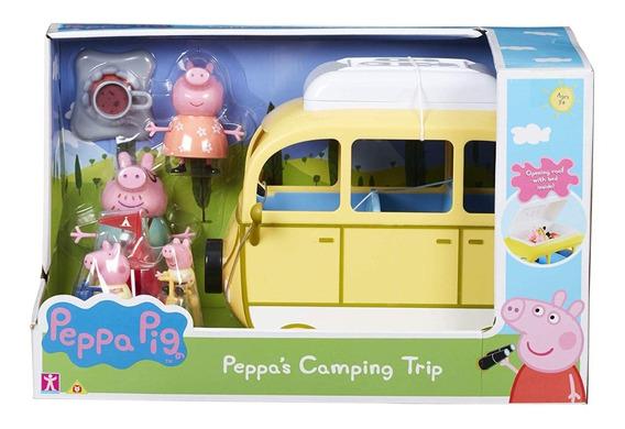 Peppa Pig Auto Familiar Dia De Camping Con Accesorios 30 Cm